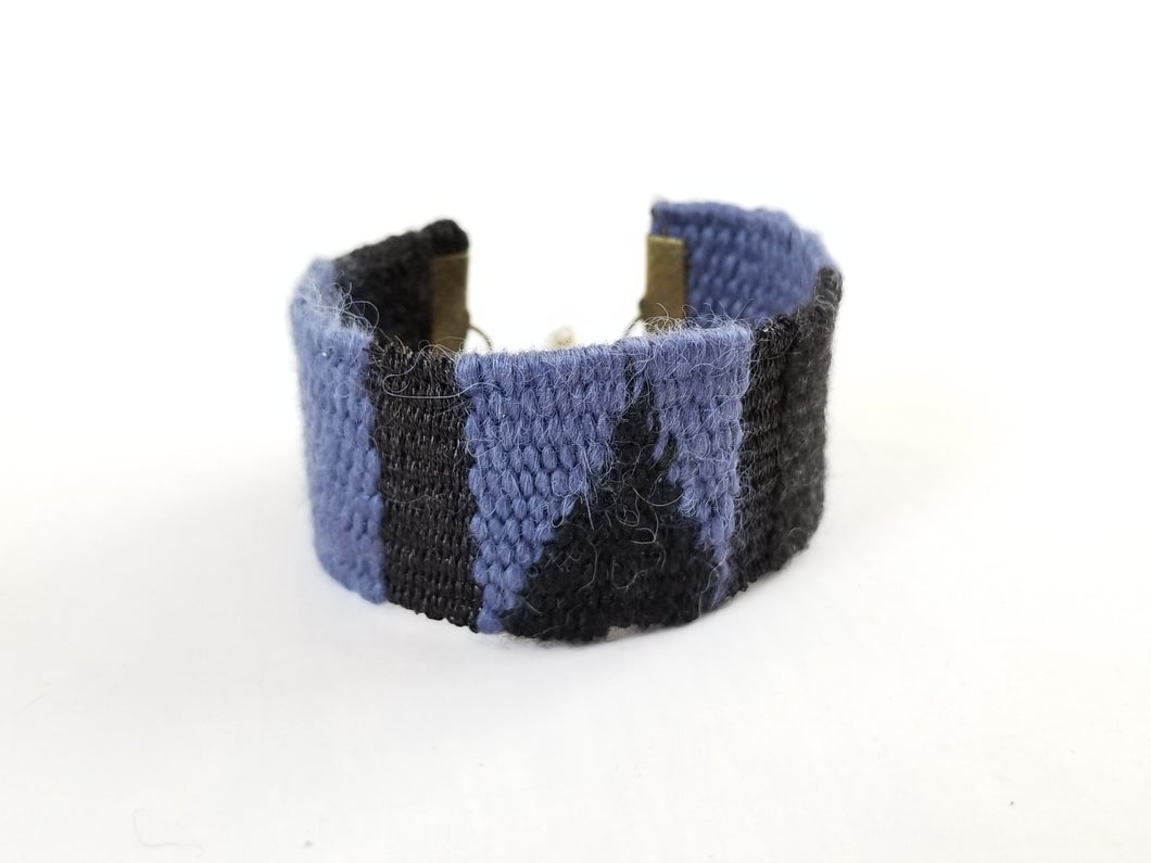 Purple and Black Tapestry Cuff Bracelet