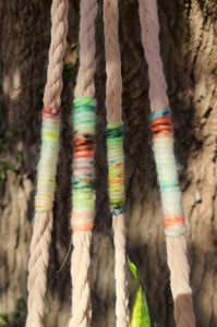 Plaited Cotton Plant Hanger, Neon Cashmere