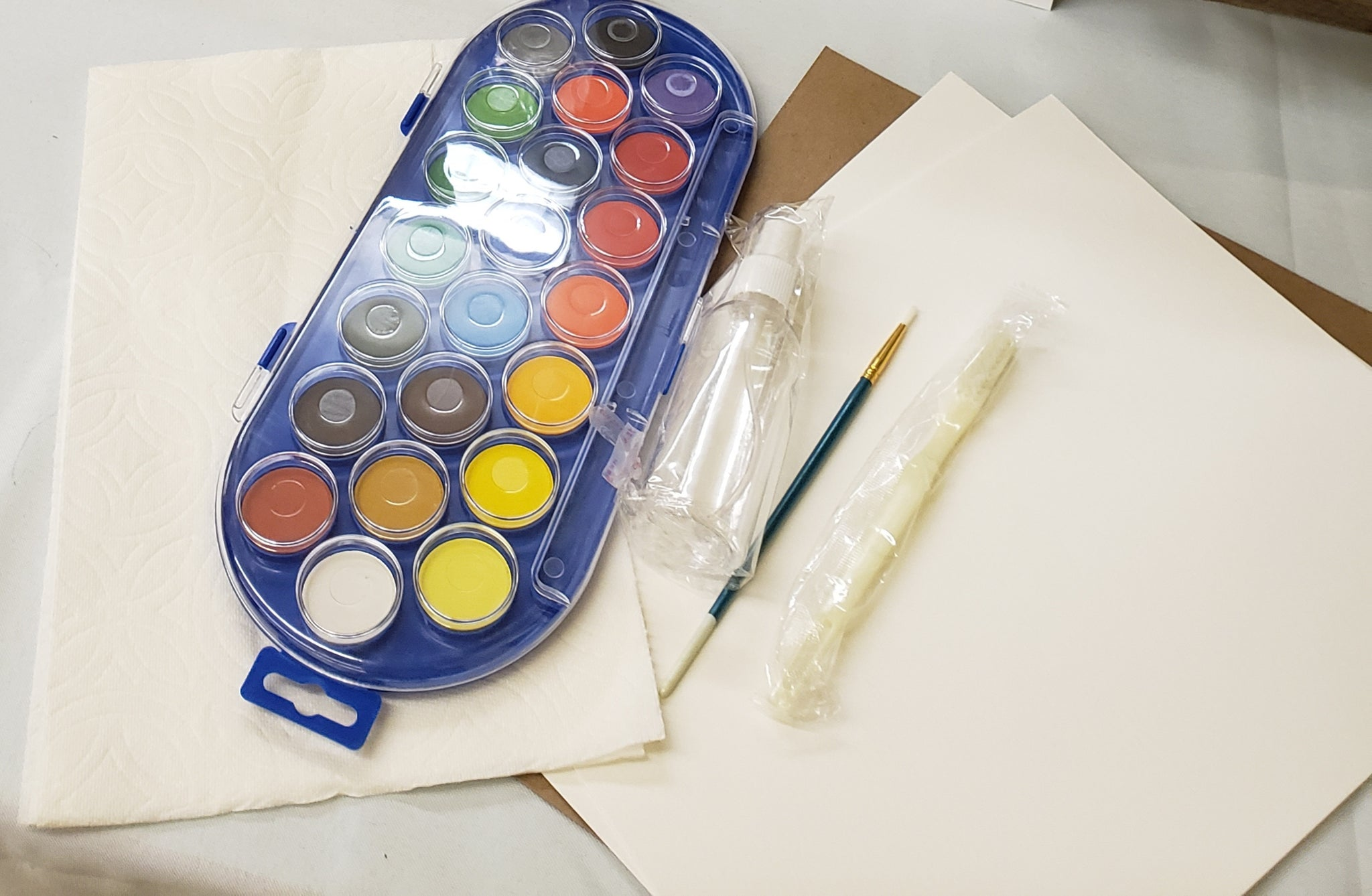 Starter watercolor kits - DIY projects