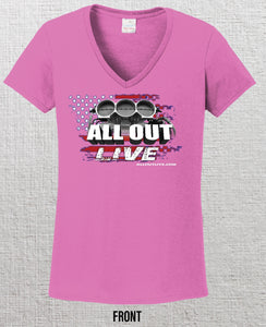 New 2020 - ALL OUT Live Official Event T Shirt - Women's