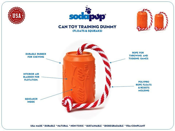 Soda Pup Can Toy Training Dummy
