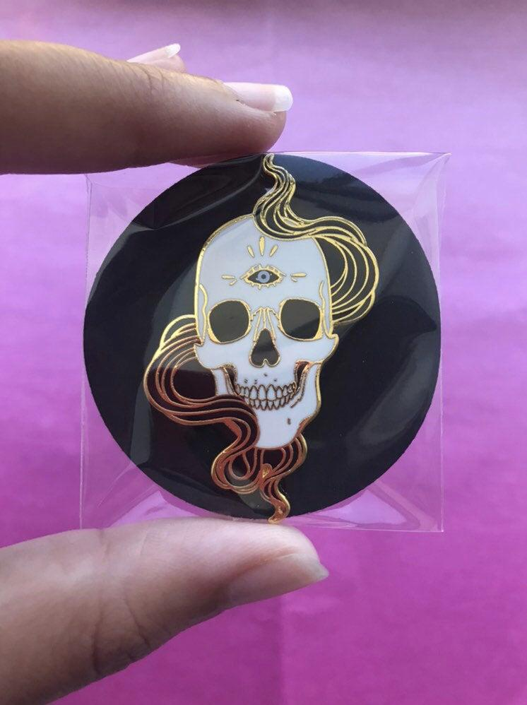 Skull Pin - electric-pagan