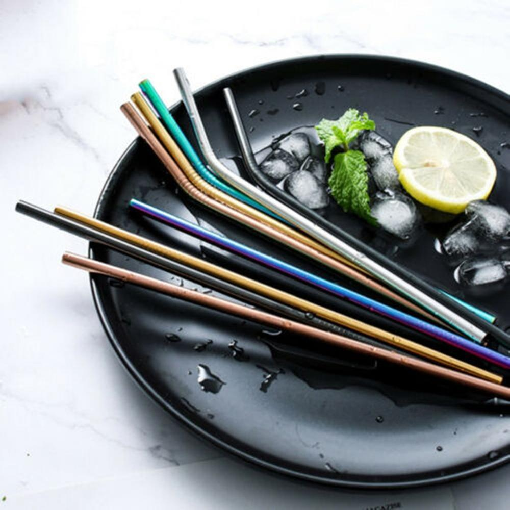 Titanium-Plated Colored Metal Straws - electric-pagan