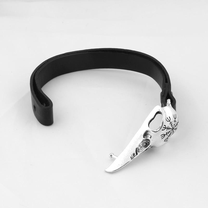 Raven Nordic Leather Bracelet - electric-pagan