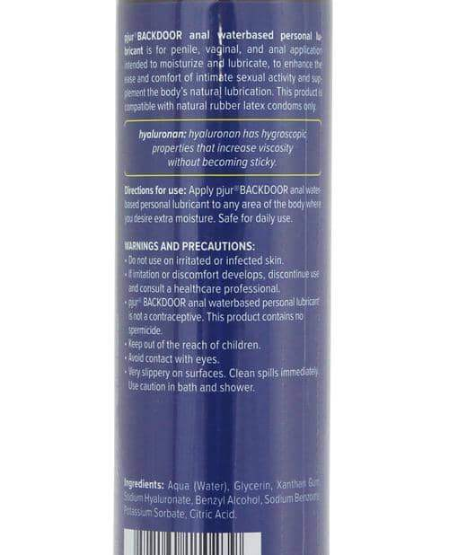Pjur Back Door Anal Water Based Personal Lubricant  - 100 Ml Bottle - Pjur Group U.S.A. - Climactic Adventures