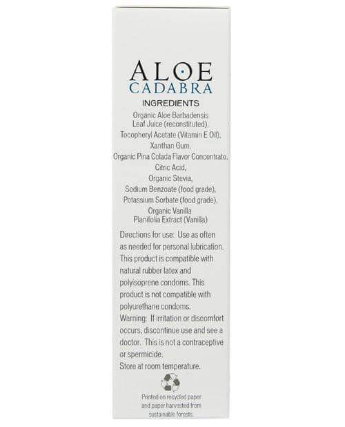 Aloe Cadabra Organic Lubricant - 2.5 Oz Bottle Pina Colada - Seven Oaks Farm/live Well Brands - Climactic Adventures