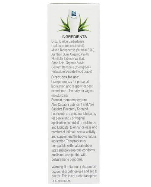 Aloe Cadabra Organic Lubricant - 2.5 Oz Bottle Tahitian Vanilla - Seven Oaks Farm/live Well Brands - Climactic Adventures