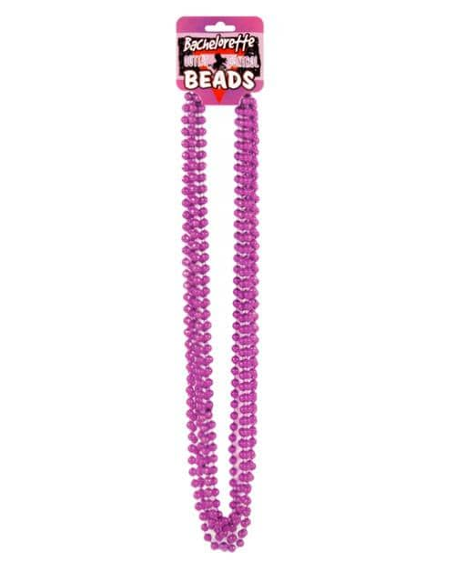 Bachelorette Outta Control Beads - Metallic Pink Pack Of 6 - Climactic Adventures