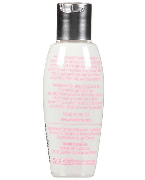 Pink Silicone Lube - 2.8 Oz Flip Top Bottle - Climactic Adventures