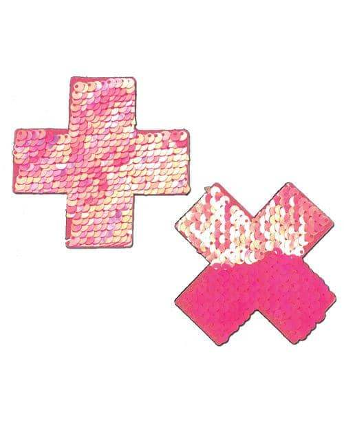 Pastease Color Changing Flip Sequins Cross - Pink O-s - Pastease - Climactic Adventures