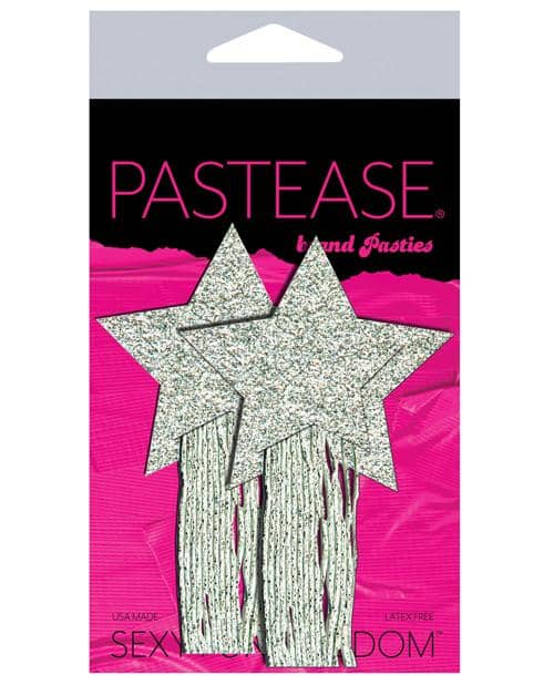 Pastease Glitter Tassle Stars - Silver O-s - Climactic Adventures