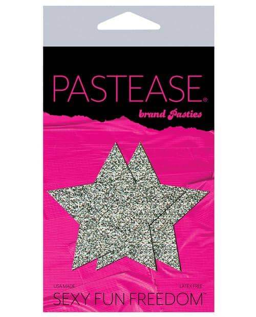 Pastease Glitter Star - Silver O-s - Pastease - Climactic Adventures
