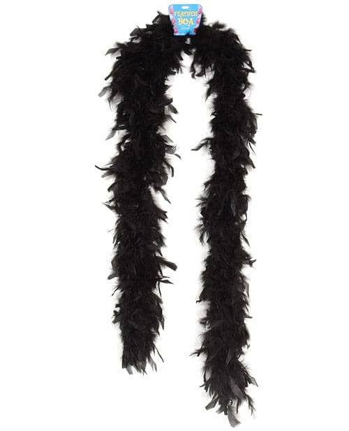 Lightweight Feather Boa - Black - Climactic Adventures