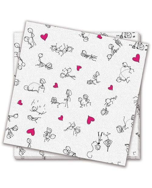 Dirty Dishes Posistion Napkins - Bag Of 8