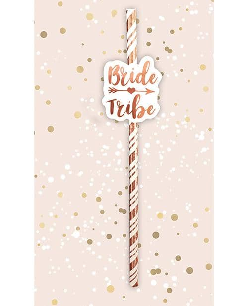 Bride Tribe Straws - Rose Gold Pack Of 6 - Omg International - Climactic Adventures