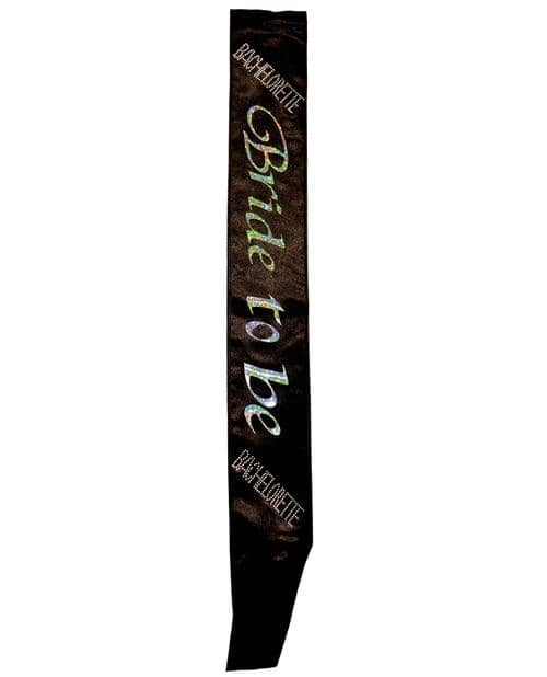 Bachelorette Bride To Be Non Flashing Sash - Black - Climactic Adventures