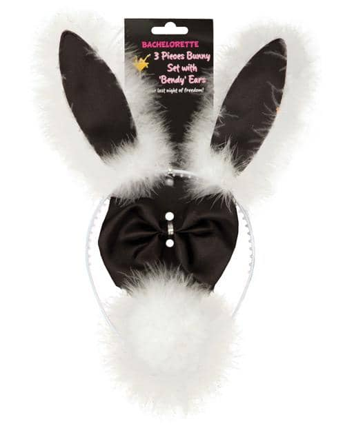 Bachelorette 3 Pc Bunny Set W-bendy Ears - Climactic Adventures
