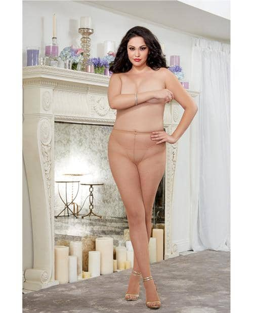 Fishnet Pantyhose W-back Seam Nude Qn - Dreamgirl International - Climactic Adventures