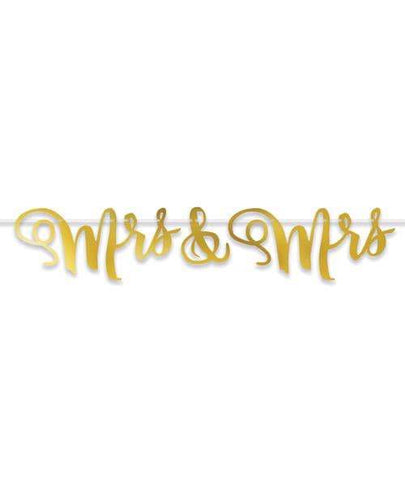 Mrs & Mrs Streamer - Gold - Beistle - Climactic Adventures