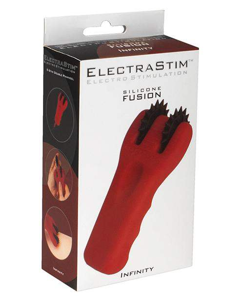Electrastim Silicone Fusion Infinity Pinwheel - Red-black - Cyrex Ltd. - Climactic Adventures