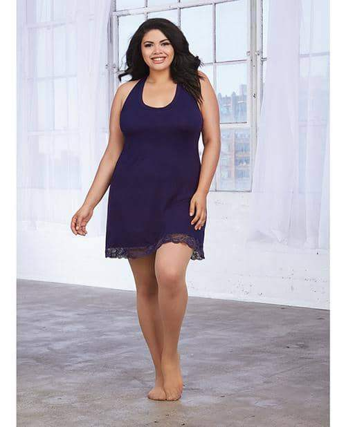 Soft Knit Jersey Sleepwear Chemise Eggplant 3x - Dreamgirl International - Climactic Adventures