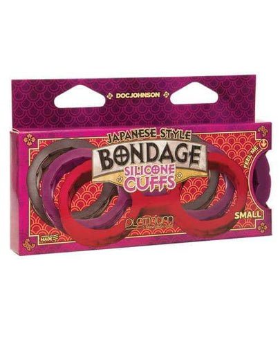 Japanese Bondage Silicone Cuffs Small - Purple - Doc Johnson - Climactic Adventures