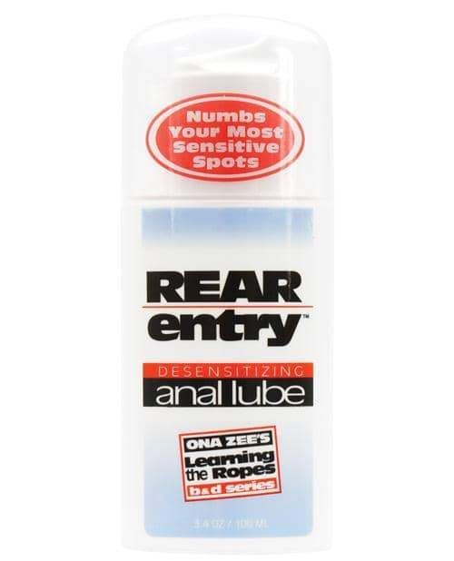 Rear Entry Desensitizing Anal Lube - 3.4 Oz - Doc Johnson - Climactic Adventures