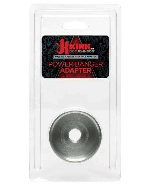 Kink Fucking Machines Power Banger Adapter For Fuck Hole Variable Pressure Stroker - Silver - Doc Johnson - Climactic Adventures