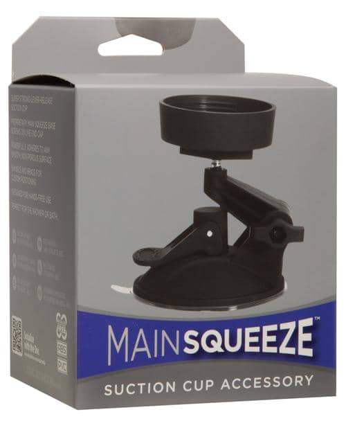 Main Squeeze Suction Cup Accessory - Black - Doc Johnson - Climactic Adventures