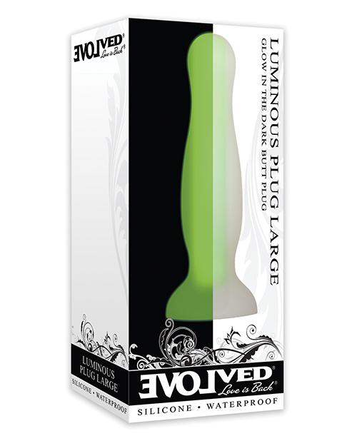 Evolved Luminous Anal Plug Large - Green - Evolved Novelties INC - Climactic Adventures