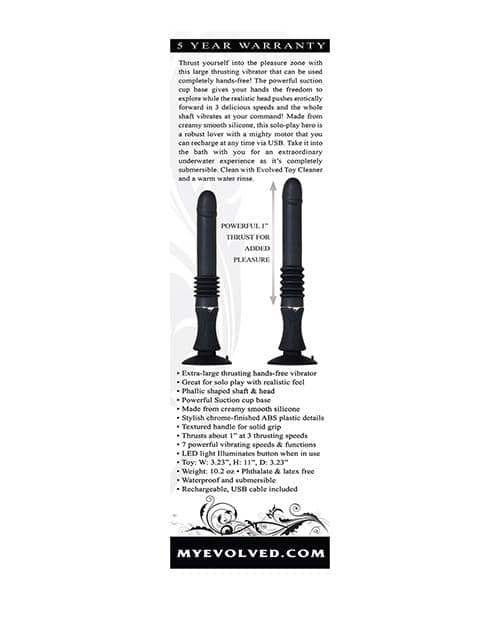 Evolved Love Thrust Sex Machine - Black - Evolved Novelties - Climactic Adventures