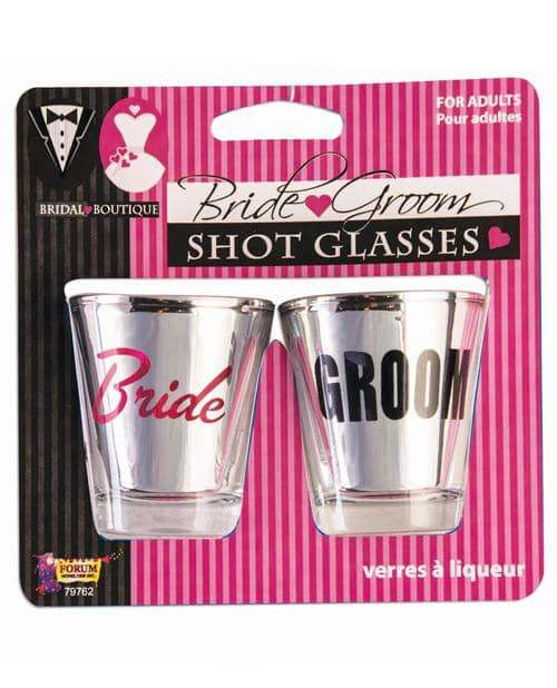 Bridal Boutique Bride & Groom Shot Glasses - Forum Novelties - Climactic Adventures