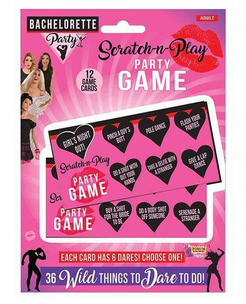 Bachelorette Party Scratch N Play Party Game - Forum Novelties - Climactic Adventures