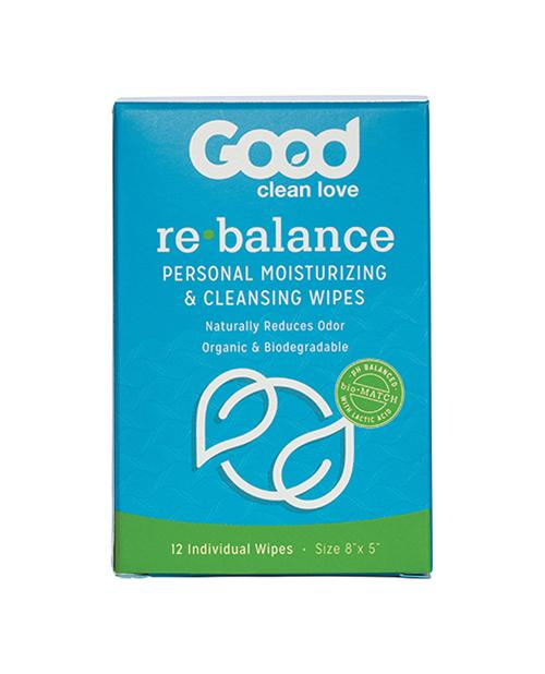 Good Clean Love Rebalance Wipes - Box Of 12 - Good Clean Love - Climactic Adventures