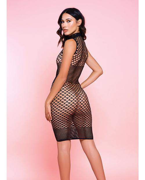 Fishnet Ride Or Die Dress Black O-s - Icollection Lingerie - Climactic Adventures