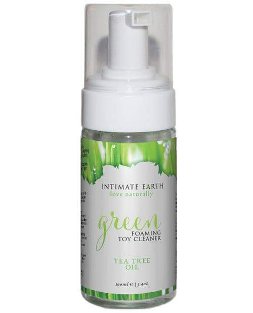 Intimate Earth Foaming Toy Cleaner - 100 Ml Green Tea Tree Oil - New Earth Trading LLC - Climactic Adventures