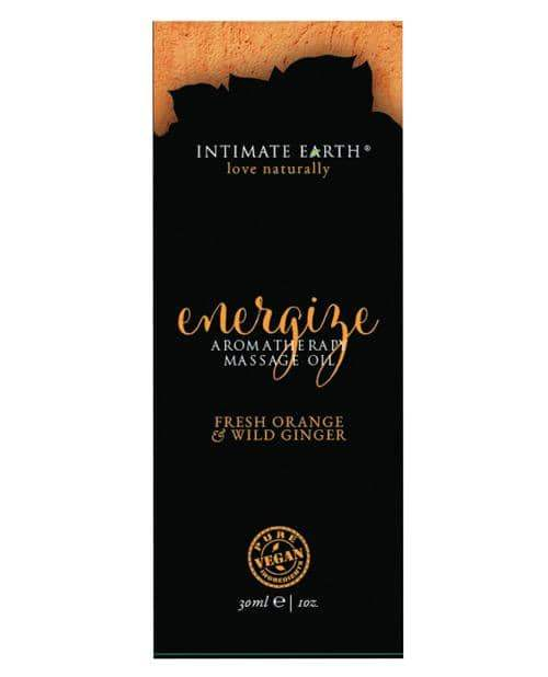Intimate Earth Energize Massage Oil Foil - 30ml Orange & Wild Ginger - New Earth Trading LLC - Climactic Adventures