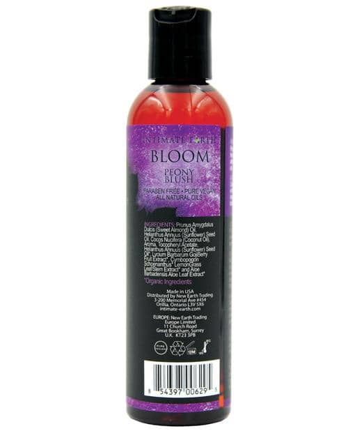 Intimate Earth Bloom Massage Oil - 120 Ml Peony Blush - New Earth Trading LLC - Climactic Adventures