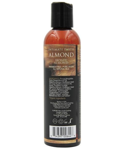 Intimate Earth Massage Oil - 120 Ml Almond - New Earth Trading LLC - Climactic Adventures