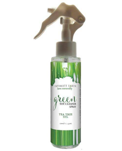 Intimate Earth Toy Cleaner Spray - 4.2 Oz Green Tea Tree Oil - New Earth Trading LLC - Climactic Adventures