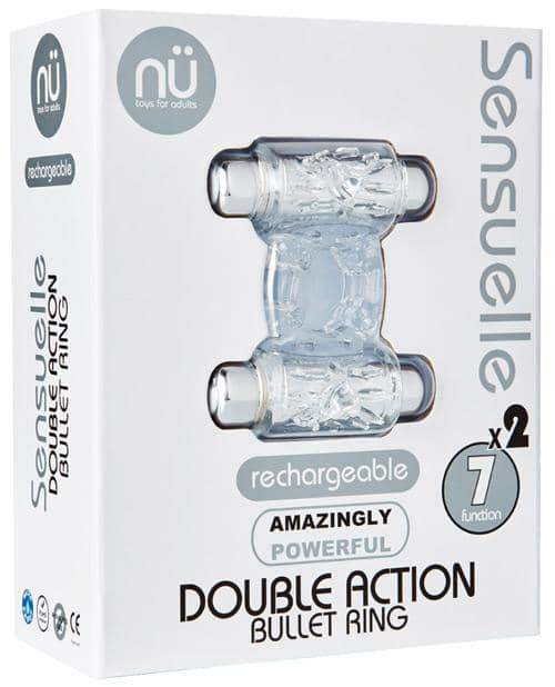 Sensuelle Double Action Cockring - 2x7 Function Clear - Novel Creations Usa INC - Climactic Adventures