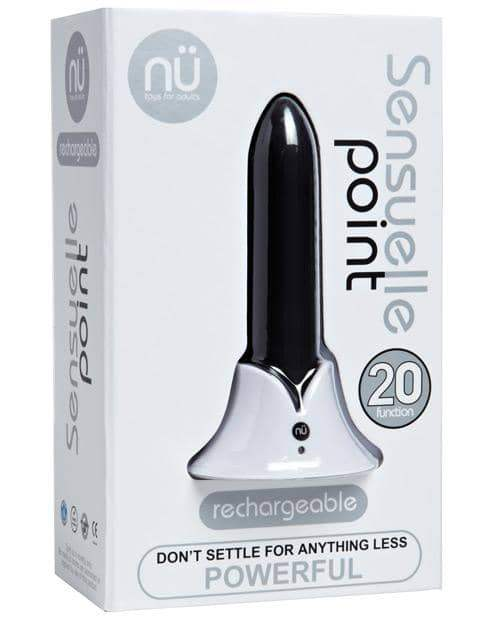 Sensuelle Point Rechargeable Bullet - Black - Novel Creations Usa INC - Climactic Adventures