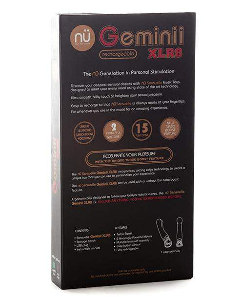 Sensuelle Geminii Xlr8 Turbo Boost G Spot - Electric Blue - Novel Creations Usa INC - Climactic Adventures