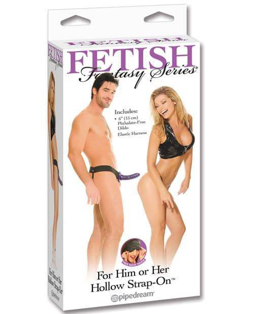 Fetish Fantasy Series Him Or Her Hollow Strap On - Purple - Pipedream Products - Climactic Adventures