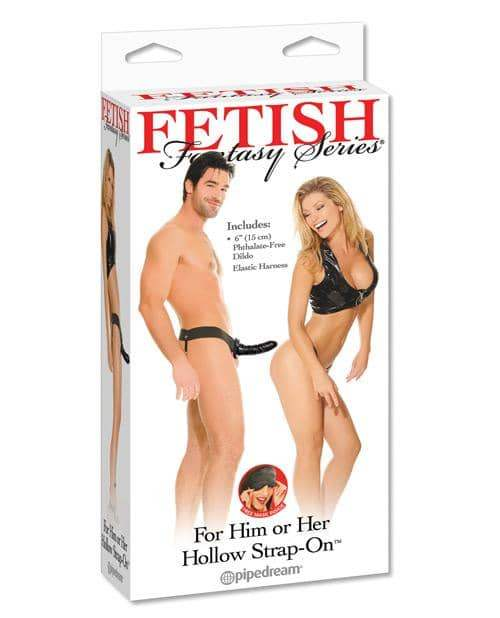 Fetish Fantasy Series For Him Or Her Hollow Strap-on - Black - Pipedream Products - Climactic Adventures