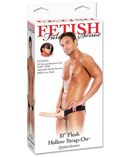 "Fetish Fantasy Series 10"" Hollow Strap On - Flesh - Pipedream Products - Climactic Adventures"