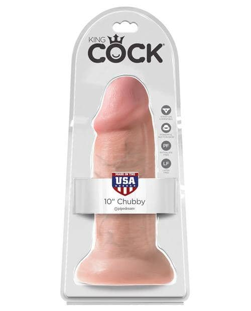"King Cock 10"" Chubby - Flesh - Climactic Adventures"