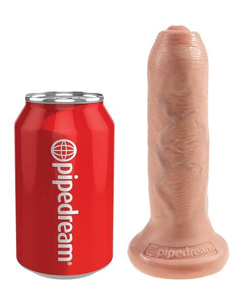 "King Cock 6"" Uncut Dildo - Flesh"