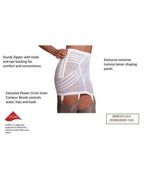 Rago Shapewear Zippered Open Bottom Girdle White 6x - Rago Foundations LLC - Climactic Adventures