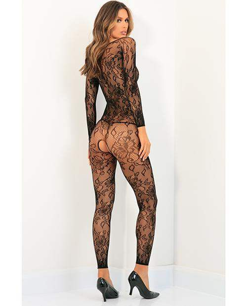 Rene Rofe Body Up Crotchless Bodystocking Black M-l - Rene Rofe - Climactic Adventures